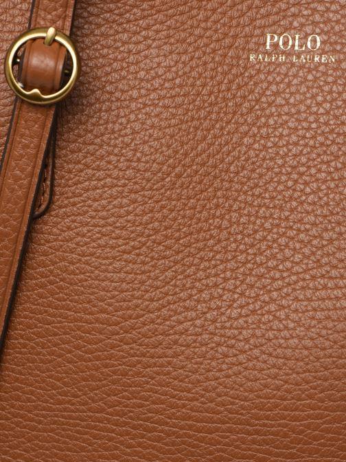 Handtaschen Polo Ralph Lauren SMALL LENNOX TOTE braun ansicht von links