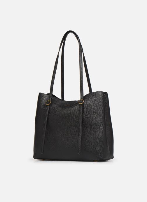 Handbags Polo Ralph Lauren SMALL LENNOX TOTE Black model view