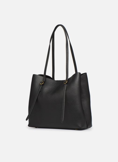 Handbags Polo Ralph Lauren SMALL LENNOX TOTE Black view from the right