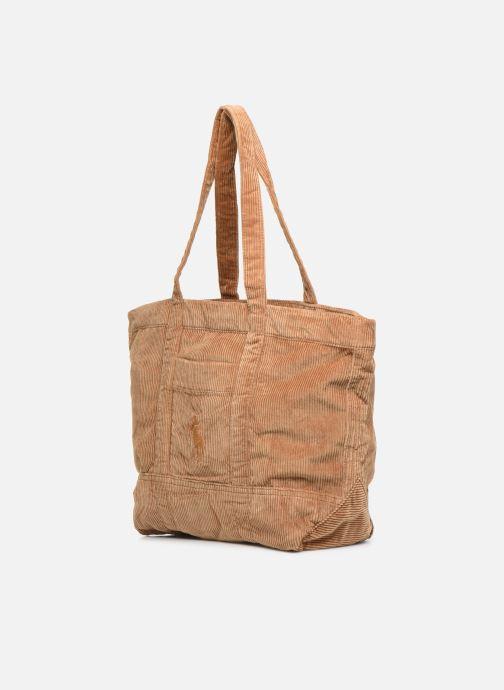 Handtaschen Polo Ralph Lauren PP TOTE CORDUROY beige schuhe getragen