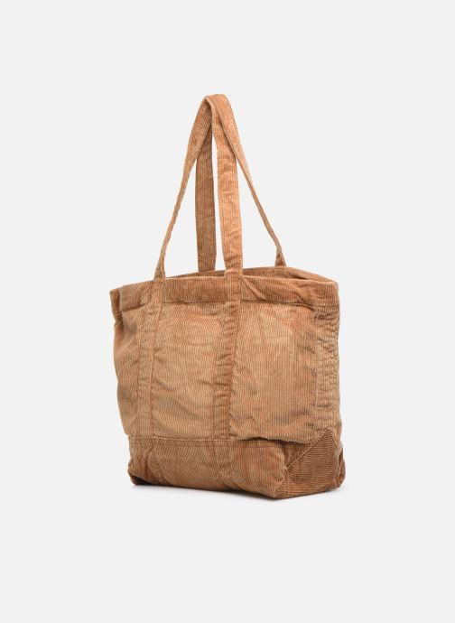 Handtaschen Polo Ralph Lauren PP TOTE CORDUROY beige ansicht von rechts