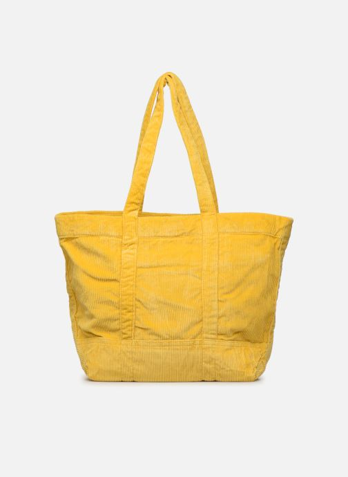 Handbags Polo Ralph Lauren PP TOTE CORDUROY Yellow front view