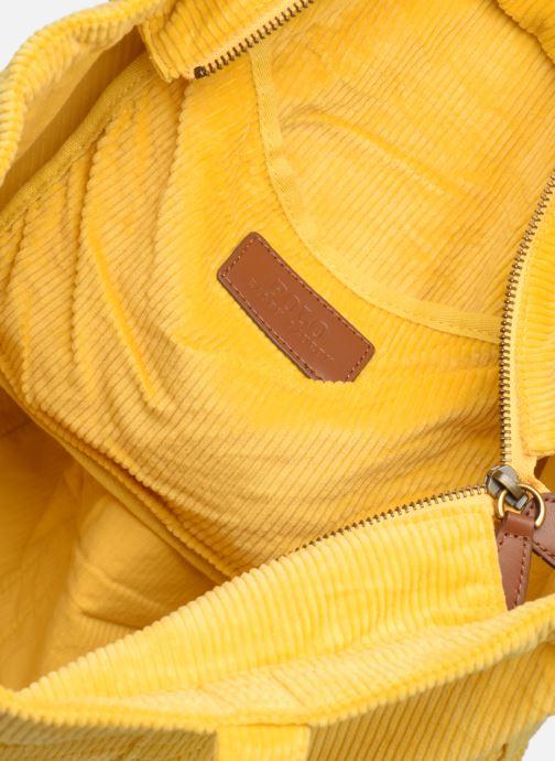 Bolsos de mano Polo Ralph Lauren PP TOTE CORDUROY Amarillo vistra trasera