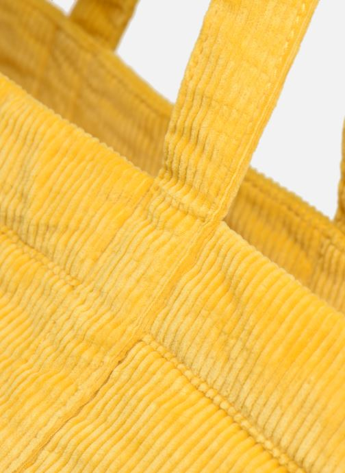 Bolsos de mano Polo Ralph Lauren PP TOTE CORDUROY Amarillo vista lateral izquierda