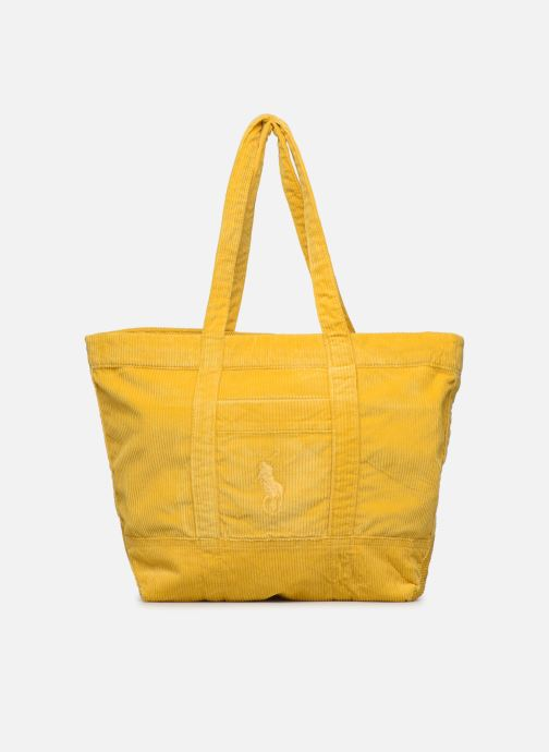 Handbags Polo Ralph Lauren PP TOTE CORDUROY Yellow detailed view/ Pair view