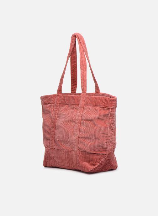 Handtassen Polo Ralph Lauren PP TOTE CORDUROY Roze rechts