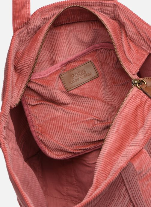 Handtassen Polo Ralph Lauren PP TOTE CORDUROY Roze achterkant