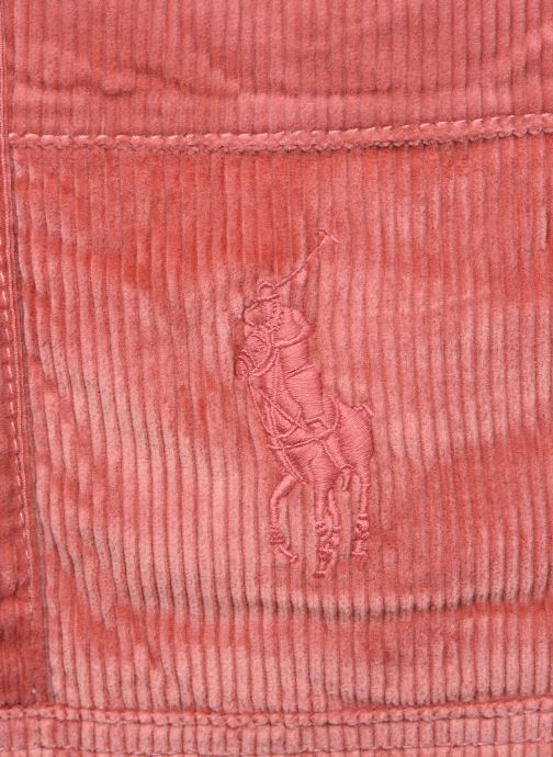 Sacs à main Polo Ralph Lauren PP TOTE CORDUROY Rose vue gauche