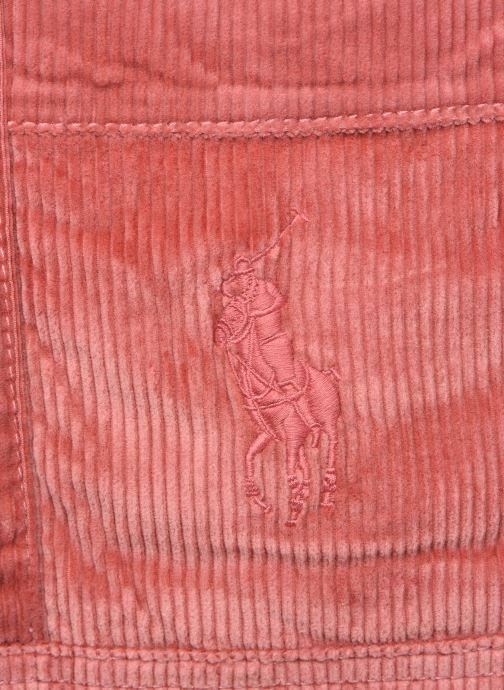 Handtassen Polo Ralph Lauren PP TOTE CORDUROY Roze links