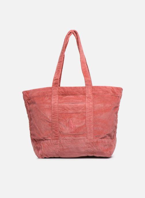 Handtassen Polo Ralph Lauren PP TOTE CORDUROY Roze detail