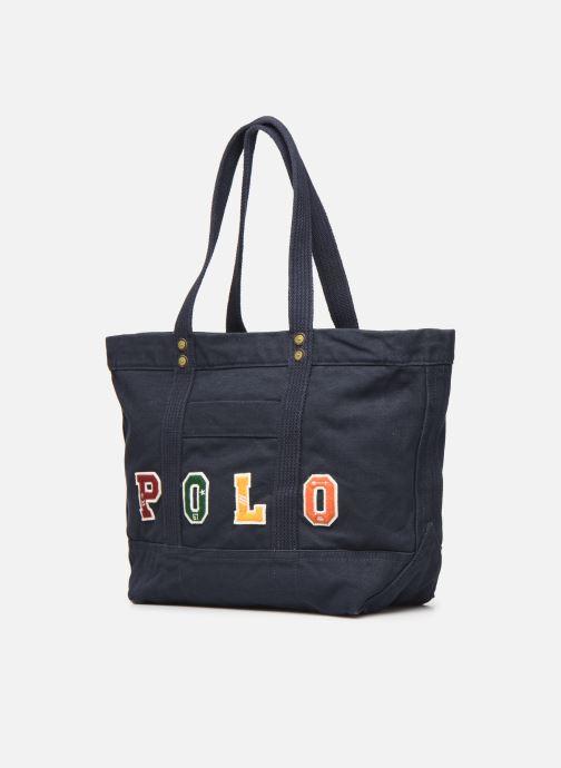 Sacs à main Polo Ralph Lauren PP TOTE POLO Bleu vue portées chaussures