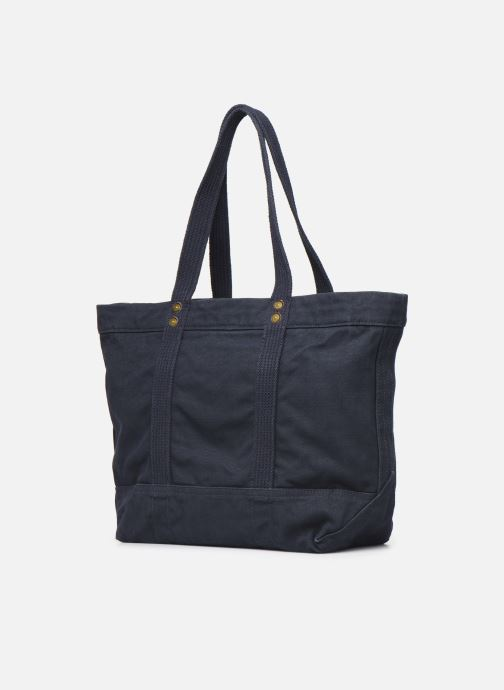 Handbags Polo Ralph Lauren PP TOTE POLO Blue view from the right