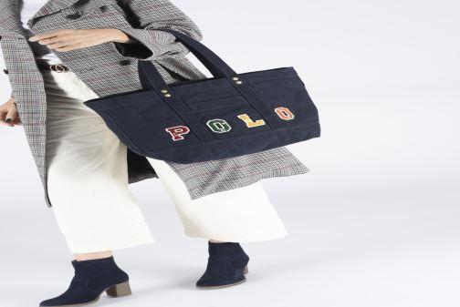 Sacs à main Polo Ralph Lauren PP TOTE POLO Bleu vue bas / vue portée sac