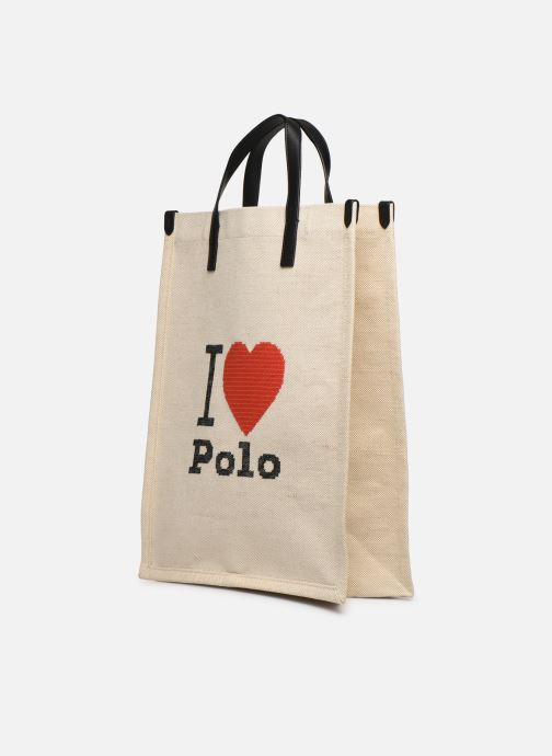 Handtaschen Polo Ralph Lauren SHOPPER TOTE weiß schuhe getragen