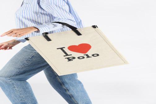 Handtaschen Polo Ralph Lauren SHOPPER TOTE weiß ansicht von unten / tasche getragen