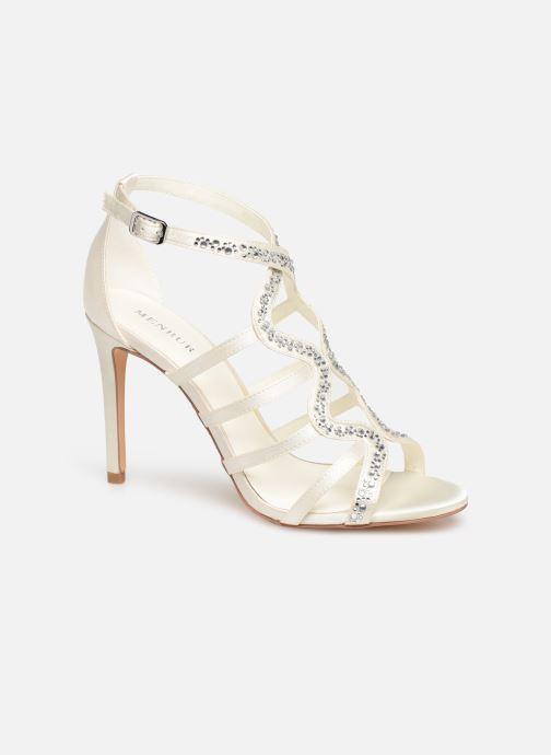 Sandales et nu-pieds Menbur 6763 Blanc vue détail/paire