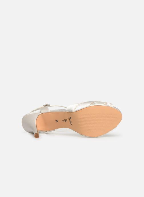 Sandales et nu-pieds Menbur 6263 Blanc vue haut