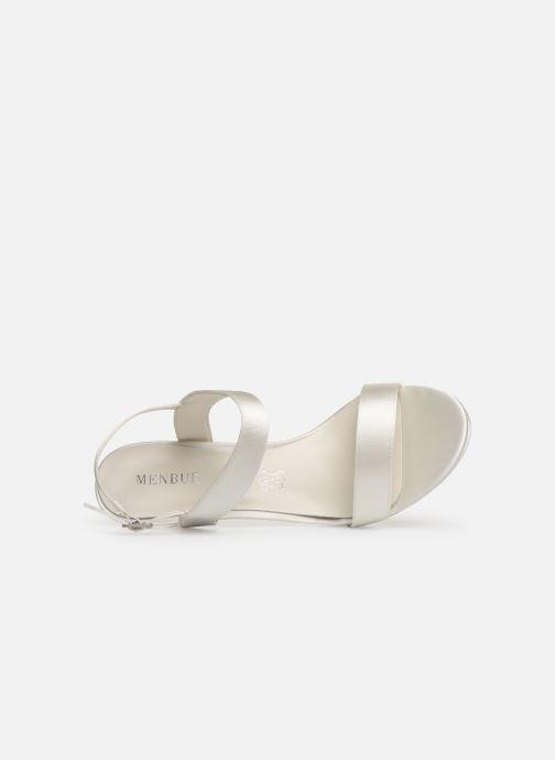 Sandales et nu-pieds Menbur 9528 Blanc vue gauche
