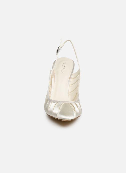 Escarpins Menbur 7449 Blanc vue portées chaussures