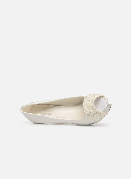 High heels Menbur 6205 White view from the left