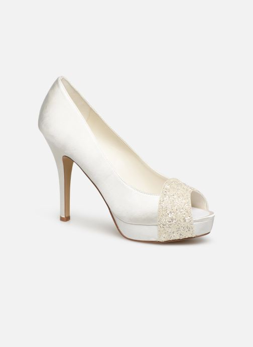 High heels Menbur 6205 White detailed view/ Pair view