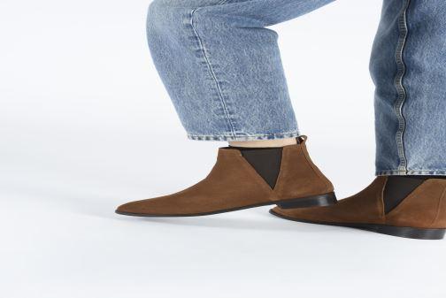Bottines et boots I Love Shoes PRISCIL LEATHER Marron vue bas / vue portée sac