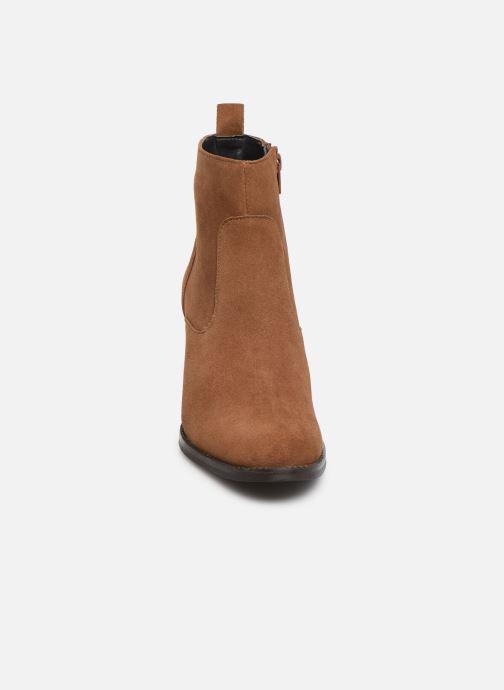 Stivaletti e tronchetti I Love Shoes PRIMROSE LEATHER Marrone modello indossato