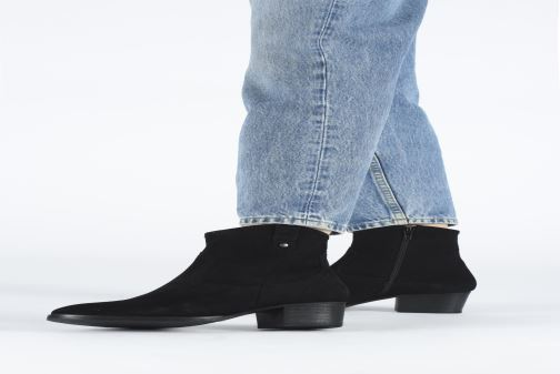 Ankle boots I Love Shoes PRUNEL LEATHER Black view from underneath / model view
