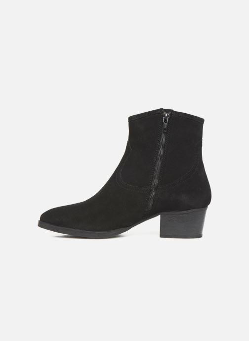 Ankle boots I Love Shoes PRUNEL LEATHER Black front view
