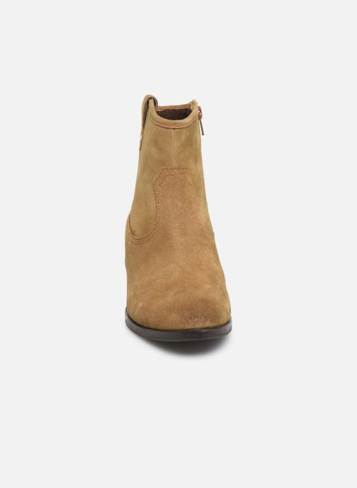 Ankle boots I Love Shoes PRUNEL LEATHER Beige model view