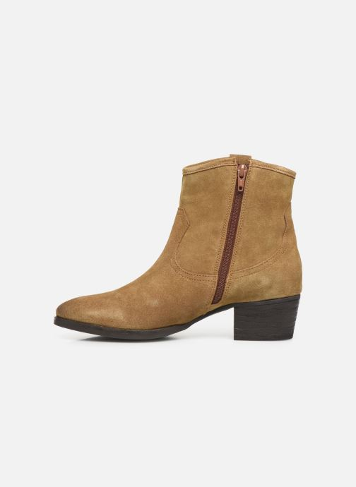 Ankle boots I Love Shoes PRUNEL LEATHER Beige front view