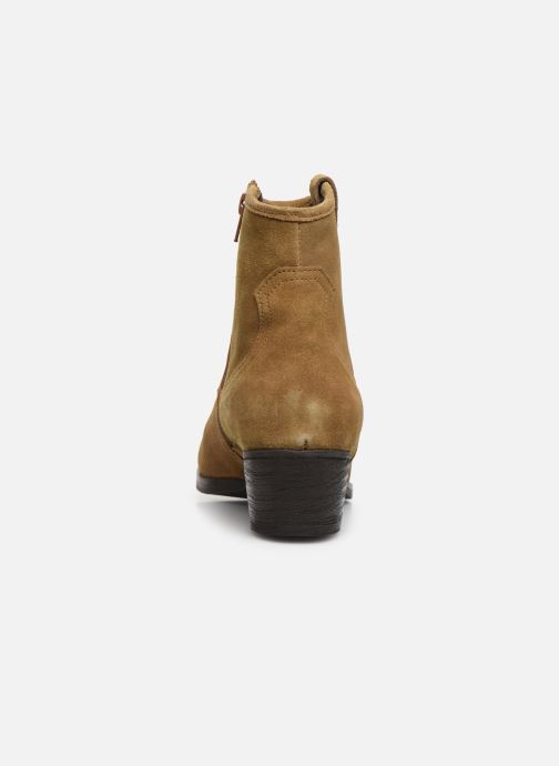 Botines  I Love Shoes PRUNEL LEATHER Beige vista lateral derecha