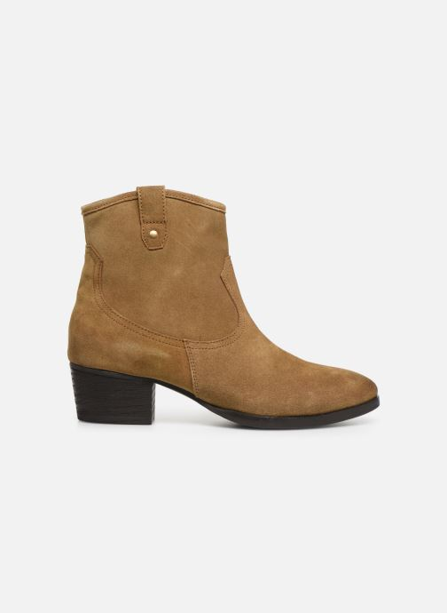 Ankle boots I Love Shoes PRUNEL LEATHER Beige back view
