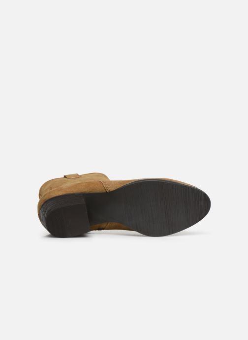 Boots en enkellaarsjes I Love Shoes PRUNEL LEATHER Beige boven