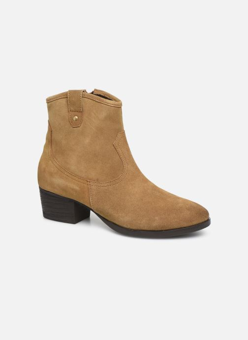 Ankle boots I Love Shoes PRUNEL LEATHER Beige detailed view/ Pair view
