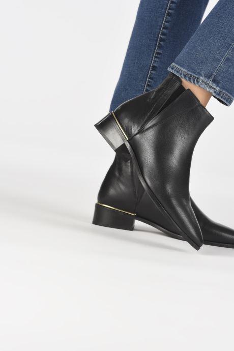 Stiefeletten & Boots I Love Shoes PRATTY LEATHER schwarz ansicht von unten / tasche getragen