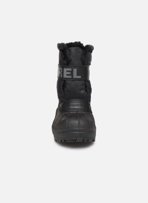 Zapatillas de deporte Sorel Childrens Snow Commander Negro vista del modelo