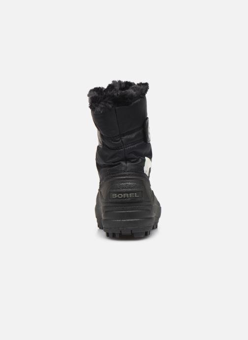 Zapatillas de deporte Sorel Childrens Snow Commander Negro vista lateral derecha