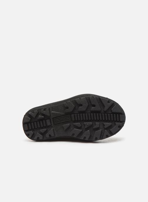 Zapatillas de deporte Sorel Childrens Snow Commander Negro vista de arriba