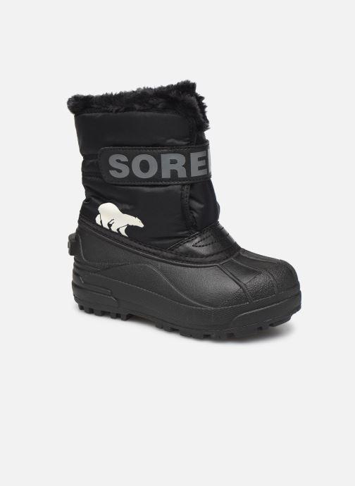 Zapatillas de deporte Sorel Childrens Snow Commander Negro vista de detalle / par