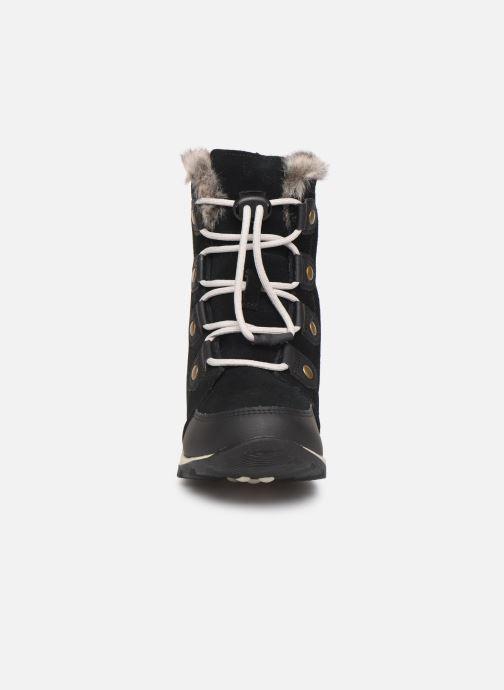 Sportssko Sorel Youth Whitney Suede Sort se skoene på