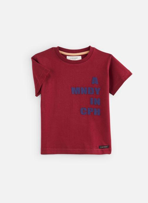 Vêtements A Monday In Copenhagen  CPH T-shirt Bordeaux vue détail/paire