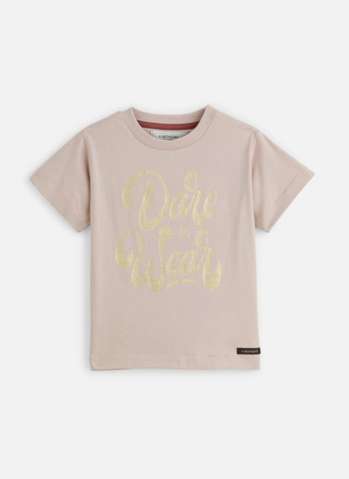 Vêtements A Monday In Copenhagen  Dare T-shirt Rose vue détail/paire