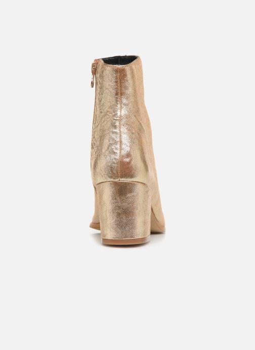 Bottines et boots Craie AVENIR Or et bronze vue droite