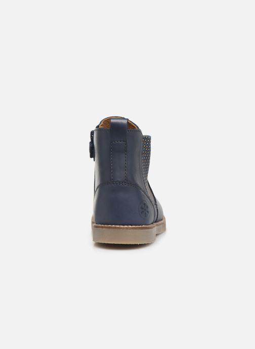 Bottines et boots Aster Stic Bleu vue droite