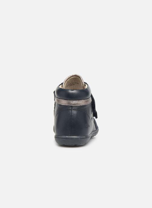 Bottines et boots Aster Fanko Bleu vue droite