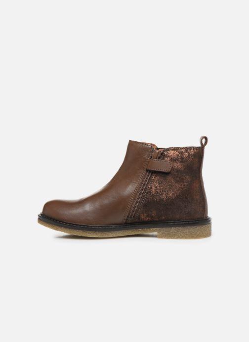 Bottines et boots Aster Waxou Marron vue face