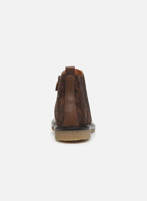 Bottines et boots Aster Waxou Marron vue droite