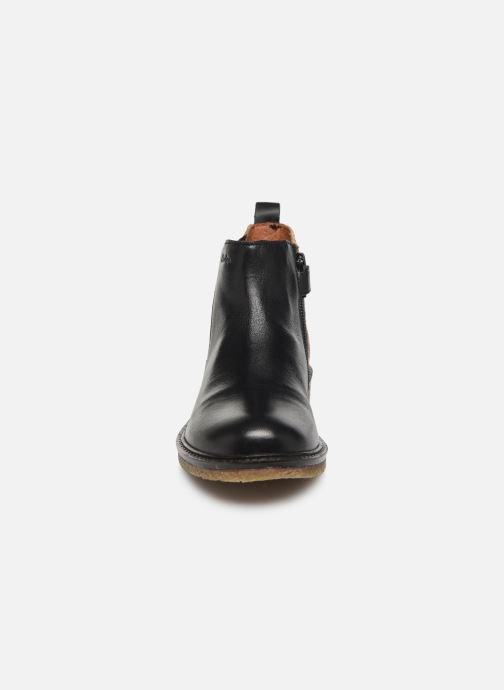 Bottines et boots Aster Waxou Noir vue portées chaussures