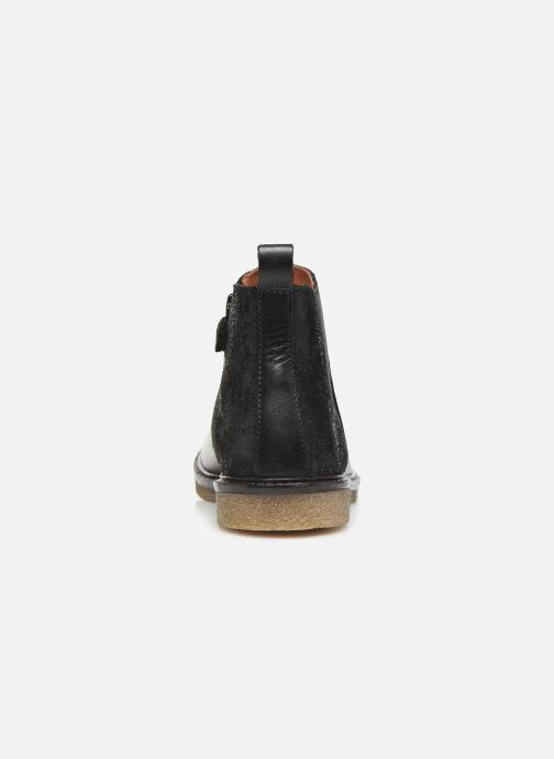 Bottines et boots Aster Waxou Noir vue droite